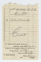 Image of Requistion Reciept of Wallace Howes
