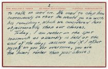 Image of Speech Notecard of Wallace Howes - 2