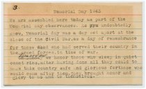 Image of Speech Notecard of Wallace Howes - 3