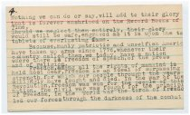 Image of Speech Notecard of Wallace Howes - 4