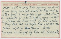 Image of Speech Notecard of Wallace Howes - 8