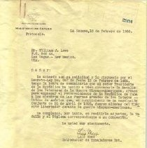 Image of Original Typed letter