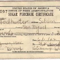 Image of Ration certificate