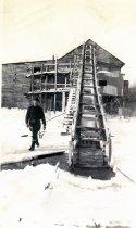 Image of George Caron, Caron's Ice Business, No Name Pond, Lewiston, 1944