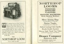 Image of Northrop Power Loom Advertisement, Lewiston Board of Trade Report, 1911