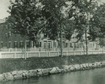 Image of Mill housing, Canal St, Lewiston, c1880