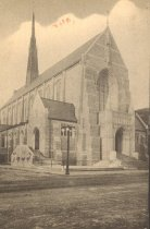Image of Post card, St. Mary's Church, Lewiston, ME 1944
