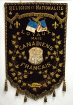 Image of Institut Jacques Cartier banner, reverse