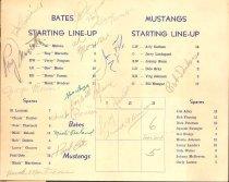 Image of Program, Bates Mfg vs Rochester Mustangs, Lewiston, 1950
