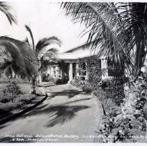 """Image of Caption of this photo reads """"Main Entrance Administration Building    The Salvation Army Boys' Home and Farm     Honolulu  Hawaii. """""""