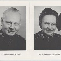 Image of A double portrait of Lt. Col Paul S. Kaiser and Mrs. Lt. Col. Kaiser