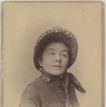 Image of A portrait of a female Salvation Army officer, Mrs. Major J. Parker taken in New York City.