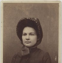 Image of A portrait of an unidentified  female in Salvation Army uniform. Taken in Baltimore, MD