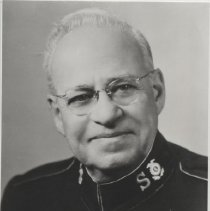 Image of A B&W photoraph of Commissioner Holland French