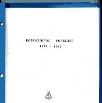 """Image of A 37-page educational forecast for the Western Territory School for Officers' Training.  It contains a schedule and curriculum for this school year's cadets.   The name """"Mrs. Capt. Sundin"""" is written on the cover."""