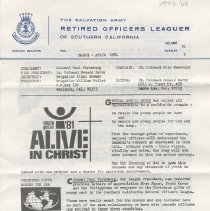 Image of 1979.5 - This Retired Officers Leaguer gives relays the call of the General for the youth of the Salvation Army, gives Christmas news, health newsand updates on other officers.