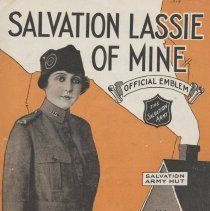 "Image of 1979.5 - This booklet contains the sheet music to a song written by Jack Caddigan. The title of the song is ""Salvation Lassie of Mine"" (2 copies)."