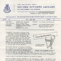 Image of 1980.1 - A copy of the May-June Retired Officers Leaguer of Southern California which gives news of happenings around the territory.