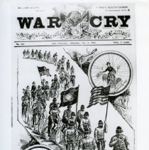 Image of 1980.1 - A copy of the cover of an October 1896 edition of the War Cry.