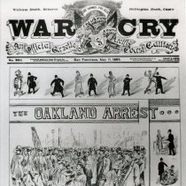 Image of 1980.1 - A copy of the cover of an May 1895 edition of the War Cry.