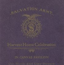 Image of 1980.1 - A small program for a Salvation Army event called the Harvest Home Celebration in Oakland, California.