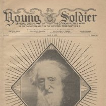 """Image of 1980.1 - A Salvation Army publication called """"The Young Soldier."""" It covers how William Booth began the Salvation Army and contains some articles written by young officers and their experiences at the new Corps."""