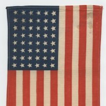 """Image of A 48-star American flag    Dimensions 7.24 x 12 """" -"""
