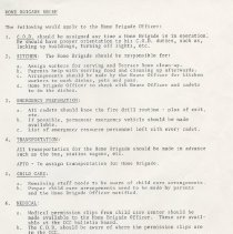 Image of A brief containing information for the cadets whom are a part of the Home Brigade.