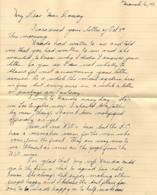 A personal thank you letter for annie drury in regard to the letters a personal thank you letter for annie drury in regard to the letters she mailed on behalf of us and foreign servicemen she met through the uso 0 expocarfo Images