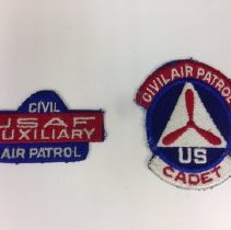 Image of A Civil Air Patrol cadet and full member patch, worn during the WWII era.  -