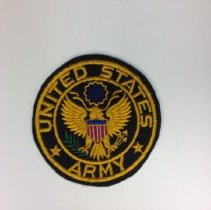 Image of A US Army Service patch, worn during the WWII era.  -