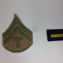 Image of A US Army Techincal Sergeant's insiginia,  worn during the WWII era.  -