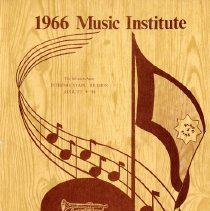 Image of A flier advertising the 1966 Music Institute, Intermountain Division, August 4-14.