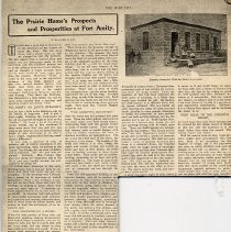 """Image of An article from The War Cry entitled, """"The Prairie Home's Prospects and Prosperities at Fort Amity,"""" by Blanche B. Cox."""