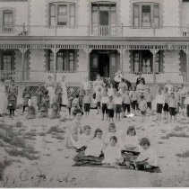 Image of A B & W photograph of Amity's Cherry Tree Home.