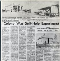 """Image of An article entitled, """"They called it Amity: Colony was self-help experiment"""" by Le Roy Boyd."""