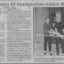 Image of Fire district 45 dedication