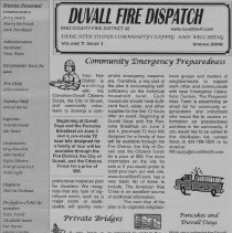 Image of Duvall Fire dispatch 2006 page 1