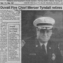Image of Fire Chief Mercer Tyndall retires