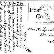 Image of Back side of penny postcard