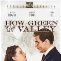 """Image of SVML.VID.H005 - DVD of """"How Green Was My Valley"""" starring Walter Pidgeon, Maureen O'Hara, and Anna Lee.  Black and white movie featuring the classic Welsh story about a struggling family in a mining town."""