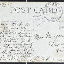Image of Message addressed to Mrs. Margaret Brunett