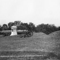 """Image of 6626.575 - Weidrech""""s Battery I, 1 N. Y. Artillery , East  Cemetery Hill."""
