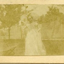 Image of 7672.064 - Unidentified Female in white dress