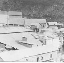 Image of Mexico - roof tops of buildings and oil tanks 1910 - 1920 - Stumberg Family Collection