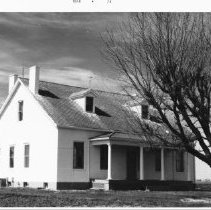 Image of Orchard Farm, Highway 94, south of Lutheran Church, white brick, brick foundation, March 1976 - City and County Sites