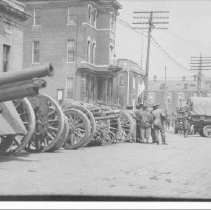 Image of World War I - War Machines, Main Street - 1914 - 1919 - Thomas J. Campbell Collection