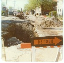 Image of Road repair North Second Street looking south from the 1800 block, April 1978 - Parker Collection