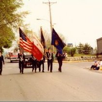 Image of Parade - American Legion Color Guard, May 1978 - Martin Harting Collection