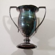 Image of 2008.01.139 - Loving cup, two handles, silverplate